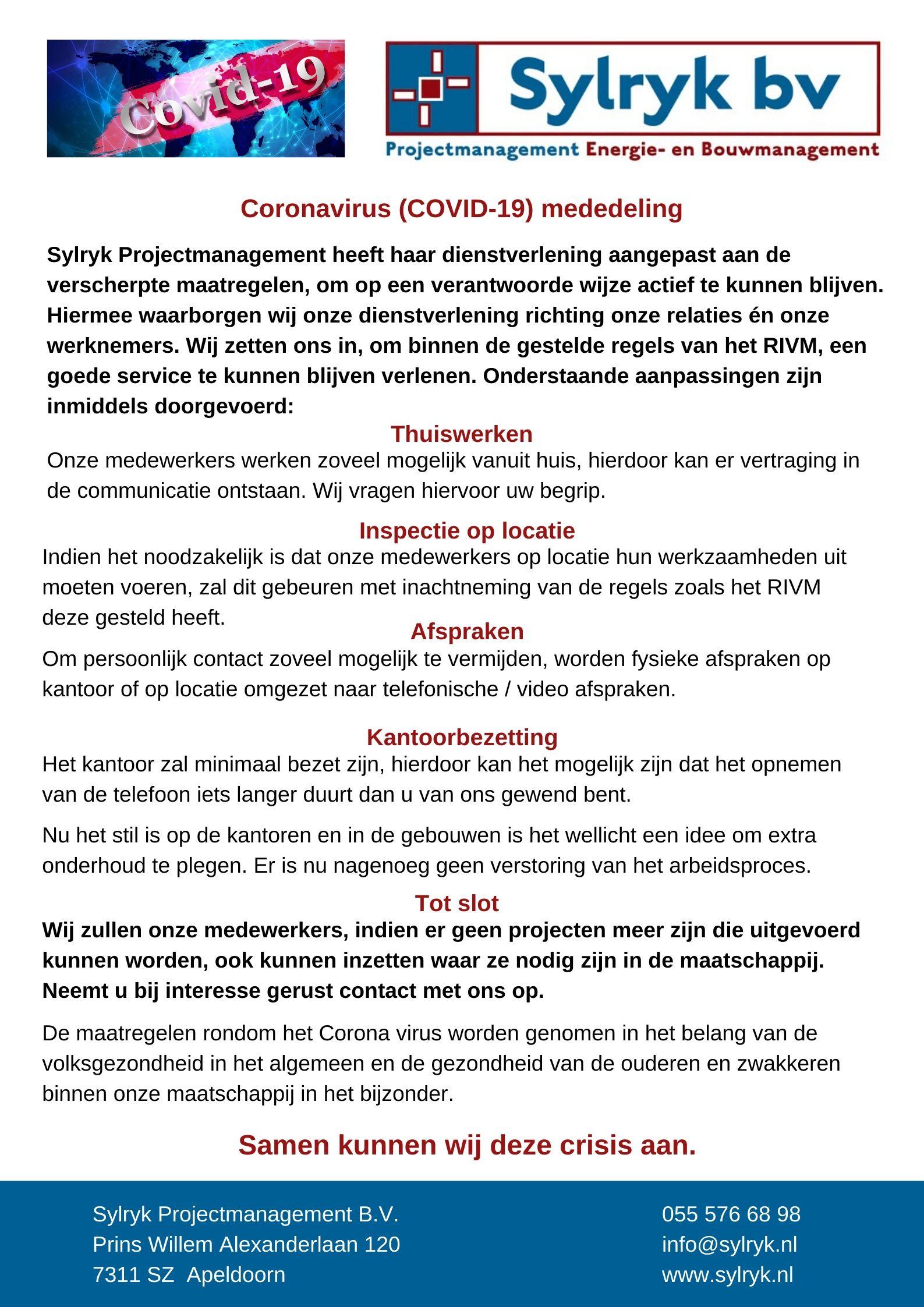 200323 DEF Berichtgeving mbt Coronavirus