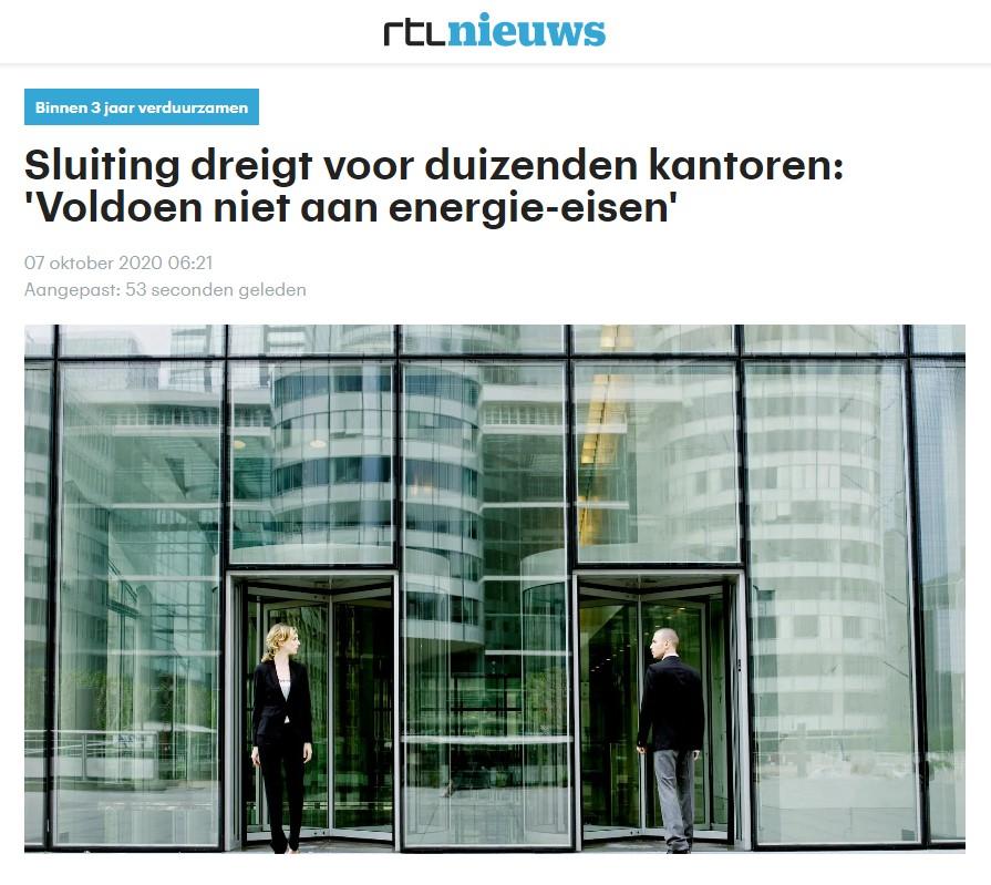 201008 RTL Nieuws niet voldoen energie-eisen